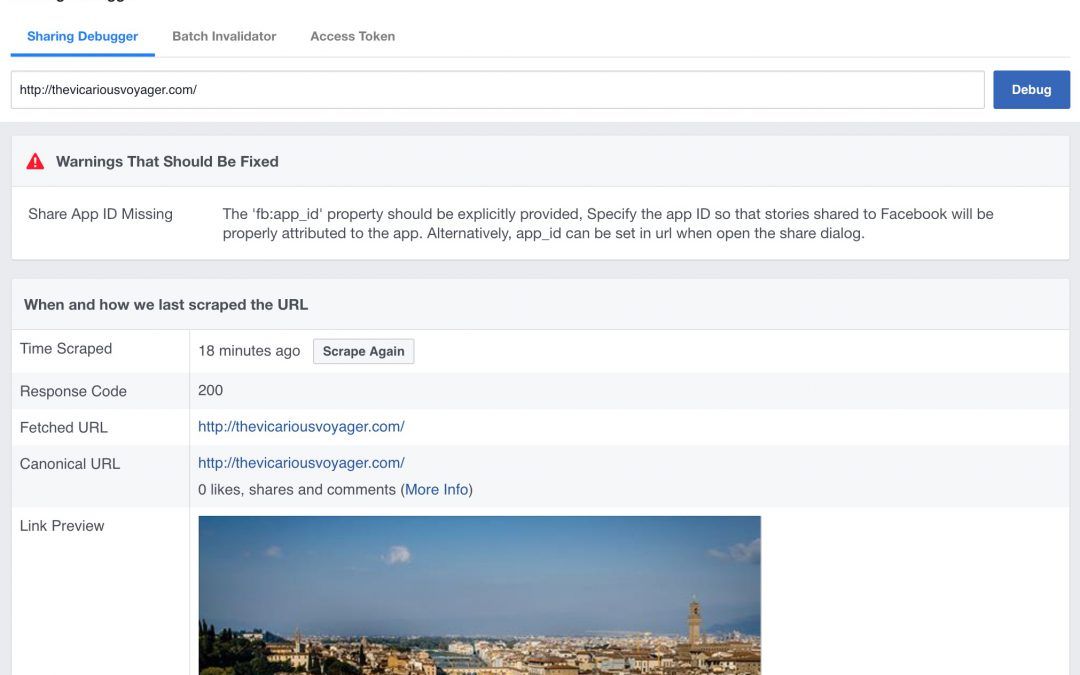 Use Facebook Sharing Debugger to Fix Facebook Website Preview on Facebook, Messenger and other places